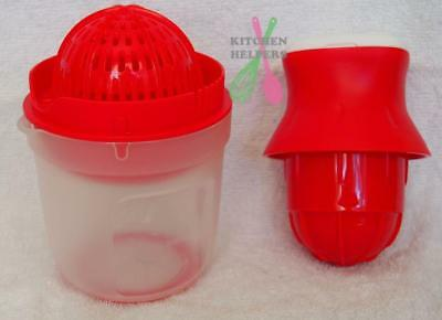 Tupperware Juist Juising Machine -Red 500ml- Make Your Own Orange Juice ~Brand