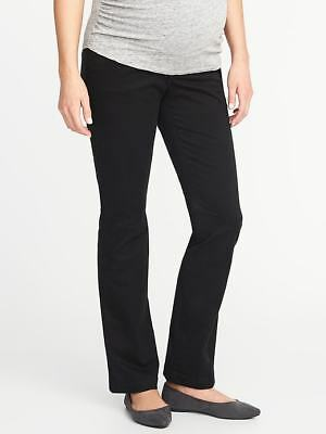 Old Navy Maternity Full-Panel Everyday Boot-Cut Khakis in Black ~ NWT ~ Size 8