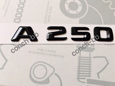 Mercedes A250 Badge Emblem Decals New Style Gloss Black