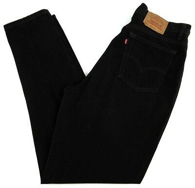 VINTAGE LEVIS 522 womens BLACK jeans 16 long 32x30 tapered fit MADE IN USA mom
