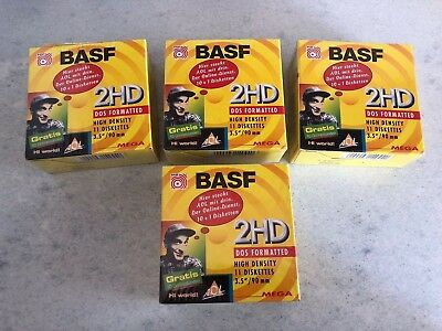 "40x BASF 2HD 3,5"" Disketten Disks DOS formatted • Neu in Folie"