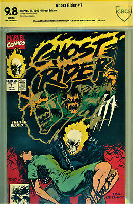 Ghost Rider #7 Cbcs 9.8 2X Signed By Howard Mackie & Signed/sketch Mark Texeira!