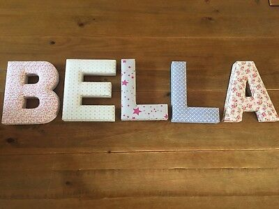Mamas And Papas Letter Girls Bedroom Nursery Picture bella ella Print Stars Pink