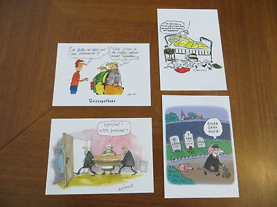 Postkarten Set Bundesministerium Bundesfamilienministerium Cartoon Comic