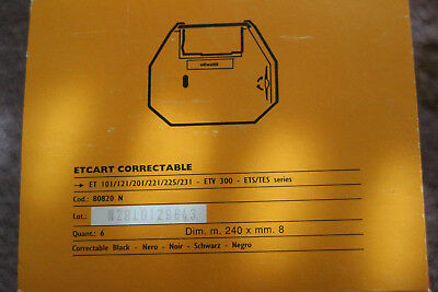 6x Olivetti ET Cartridge Correctable Farbband