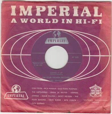 THE FOUR TIELMAN BROTHERS * Swing It Up * NL press. Imperial HI 1026