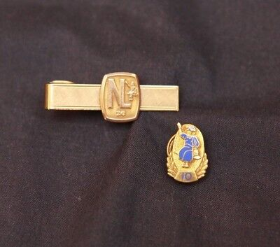 Lot of 2 Vintage National Lead Dutch Boy Paint Gold Filled Award Pin Tie Tack