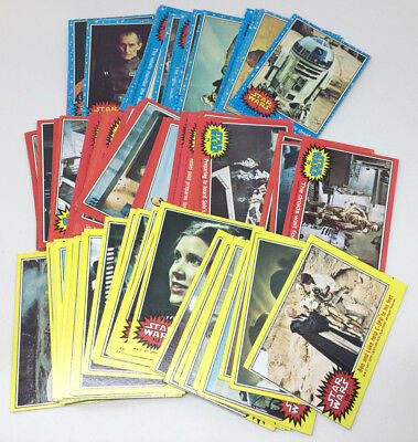 Topps 1977 Star Wars trading card 79 card lot Series 1 to 3