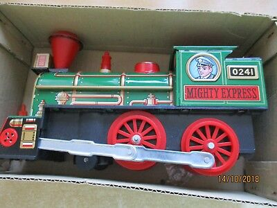 TOY TOWN EXPRESS TC-220 Lokomotive Blechspielzeug in OVP -- JAPAN