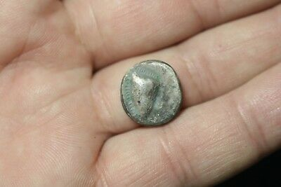 Ancient Interesting Greece Silver Drachm Coin 480 - 290 B.C.