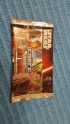 star wars force attax topps trading card game pack 8 cards