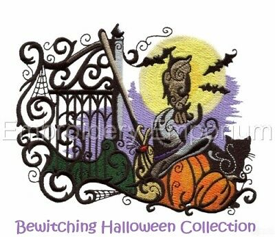 Bewitching Halloween Collection - Machine Embroidery Designs On Cd