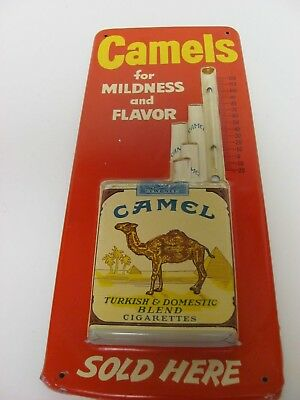 Vintage Camels for Mildness and Flavor Cigarettes Advertising Thermometer