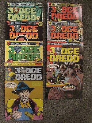 Judge Dredd, Eagle/Quality Comics UK/US monthly, 1986, 7 issues (28-29, 31-35)