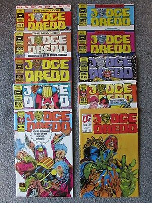 Judge Dredd, Quality Comics UK/US monthly, Vol 2 1986/7, 10 issues (1 - 10)