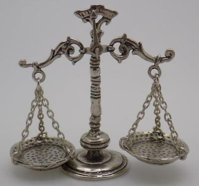 Vintage Solid Silver Italian Made Scale of Justice, Libra Miniature, Stamped