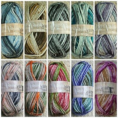 Knitting Wool 100g Big Value Super Chunky Tints Yarn King Cole