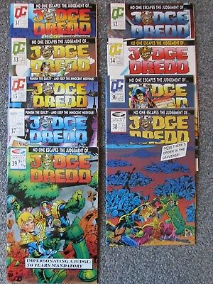 Judge Dredd, Quality Comics UK/US monthly, Vol 2 1989, 9 issues (31 - 39)