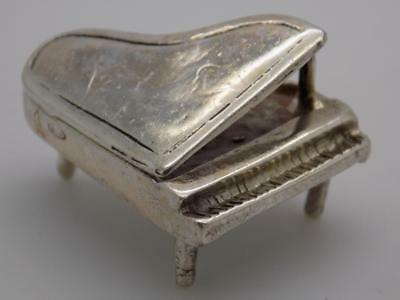 Vintage Solid Silver Italian Made Piano Miniature, Figurine, Stamped, Dollhouse