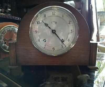 Vintage 1931 Art Deco Garrard Mantle Clock