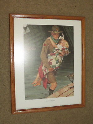 EUC Norman Rockwell / Boy Scout print - A Scout Is Helpful