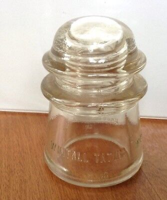 Vintage Whitall Tatum Co. No. 2 Clear Glass Electrical Insulator