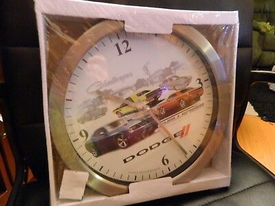 """DODGE Challenger clock 12"""" round by Choko authentic apparal CHRYSLER GROUP 2011*"""