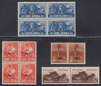 South West Africa 139-42 SG 117-20 VF MNH 1941 War Effort Se-Tenants SCV $75.70