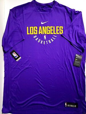 Nike Dry NBA Los Angeles Lakers Practice Jersey Shirt Mens 3XLT Tall 877536  504 080e6cfb1