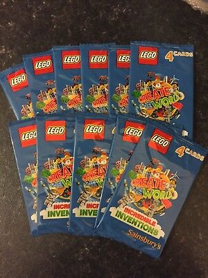 LEGO INCREDIBLE INVENTIONS CARDS. Sainsbury's. 11 PACKS. 44 Cards. NEW. UNOPENED