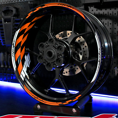 Wheel Rim Stripes Tape Decals KTM rc8 690 Duke 1290 Super R 125 390 SMC Stickers