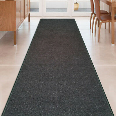 Custom Size Black Stair Hallway Runner Rug Rubber Back Non Skid 22 26 31