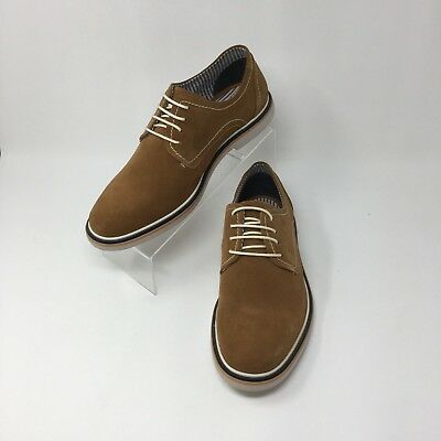 2d09a280946 Steve Madden Frick Men s Oxford Buck Shoes Tan Suede Lace Up Casual Size 8.5