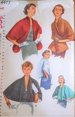 Vintage 1950s STOLE Simplicity Sewing Pattern~SIZE 12-14~#4477~THREE VERSIONS !