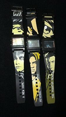Star Wars Burger King Watches With Reversible Bands - Set Of 3