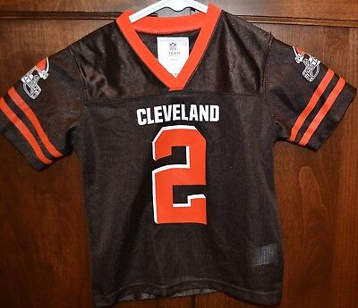 ce05900912fe NEW NFL Cleveland Browns Kids 4T Toddler Johnny Manziel #2 Jersey Football