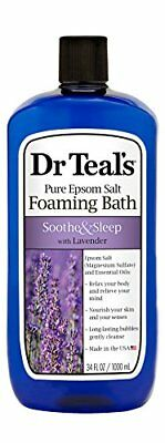 Dr Teals Pure Epsom Salt Foaming Bath to Soothe and Sleep with Lavender, 1 Litr