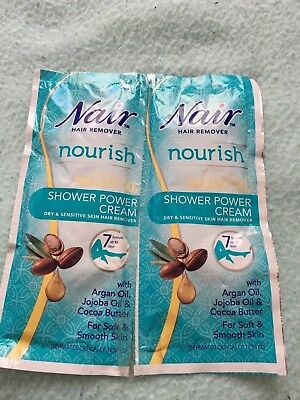 nair nourish argan gel shower power cream