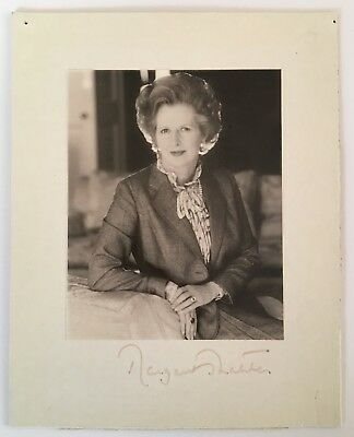 Original signed presentation photo of Margaret Thatcher