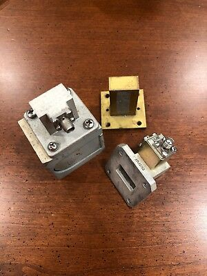 Microwave Assoc Waveguide Circulator WR-75, 10.7-11.7 GHz Sma Adapters, Load