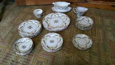 Vintage Lot of 28 Assorted Pcs Handpainted Noritake Rosedale Japan
