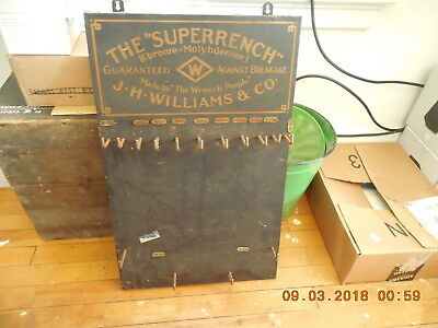 RARE Vintage J.H. Williams & Co. Superrench Display Board 1920s
