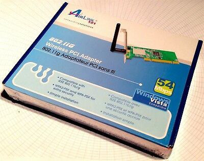 AIRLINK101 SUPER G WIRELESS PCI ADAPTER DRIVER DOWNLOAD