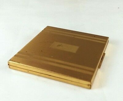 Vintage Goldtone Elgin American Mirrored Square Compact