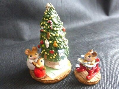 Wee Forest Folk Figurines Under The Cris-Mouse Tree M-123 & Rocking Tot M-103