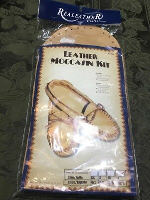Real Leather Scout Moccasin Kit  Size Large 10/11 NIP