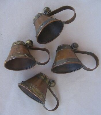 Vintage Mexican Arts & Crafts Copper Finger Candle Snuffer Set - Hector Aguilar