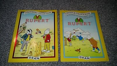 RARE Vintage Rupert The Bear Colouring Books Unused 90s