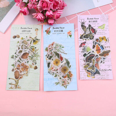 35pcs butterfly flower paper sticker diy diary decor for album scrapbooking GY