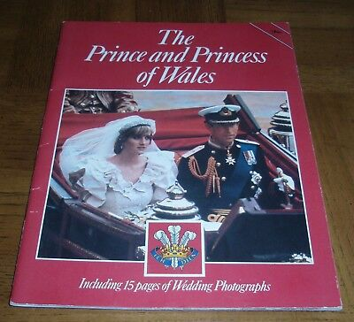 The Prince And Princess Of Wales Book Including 15 Pages Of Wedding Photographs